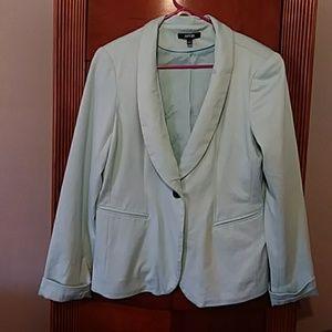 ❤Fantastic powder blue soft blazer jacket size L